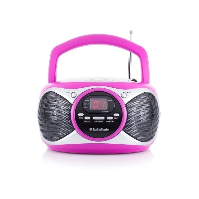 Boombox Portable Radio CD Stereo (Rose)
