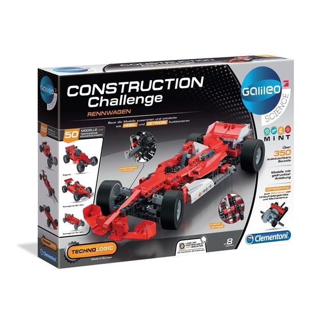Clementoni Science Galileo - Construction Challenge Rennwagen