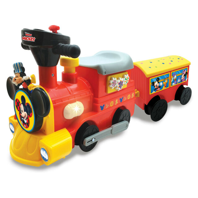 Disney Mickey 6-Volt Powered Train with Tracks and Caboose