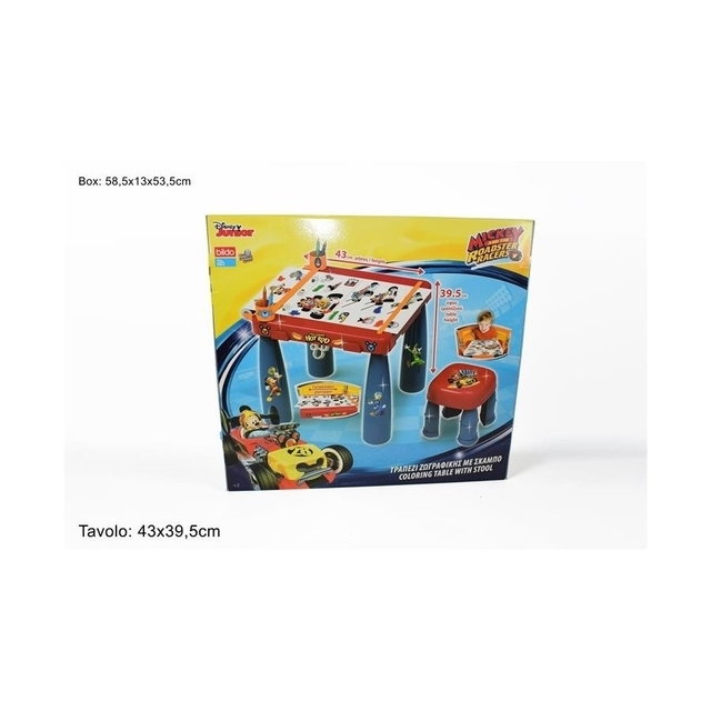 Disney Mickey mouse and the roasters racers Coloring Table & stool