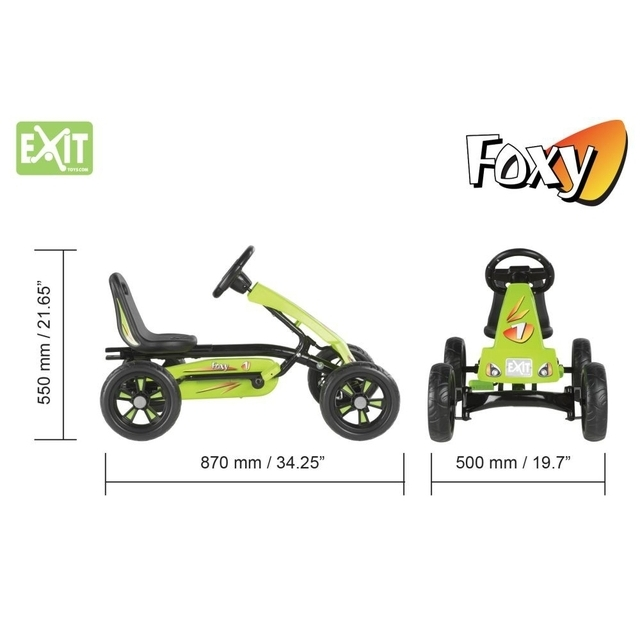 EXIT Foxy Pedal Go-Kart - Green