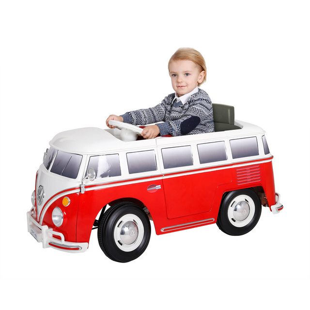 6V Volkswagen Camper Van Bus in Red
