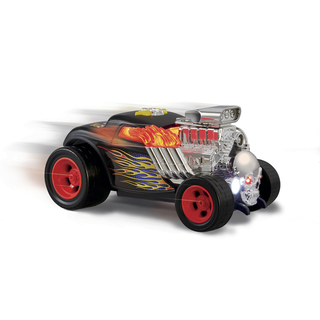 Fast Lane Jump Starters Skull Shaking Hot Rod Car - Black