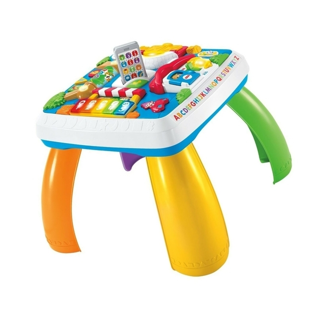 Fisher-Price DRH31 Learning Fun Play Table Learning Toy with Lights, Sets and Songs