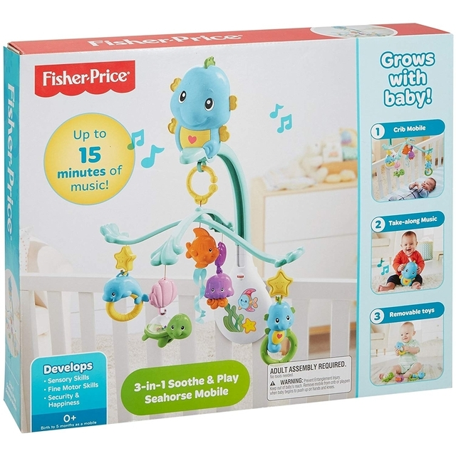Fisher-Price 3-in-1 Soothe & Play Seahorse Mobile