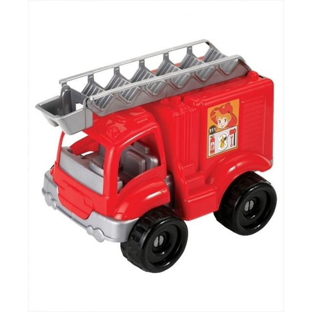 Fire truck with 30 building blocks