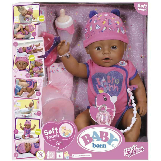 BABY Born Soft Touch Brown Eyes Doll