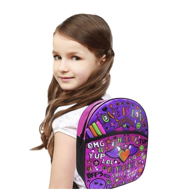 "Kuprinė - dekoruok pats ""Colour Your Own Fashion Rucksack"""