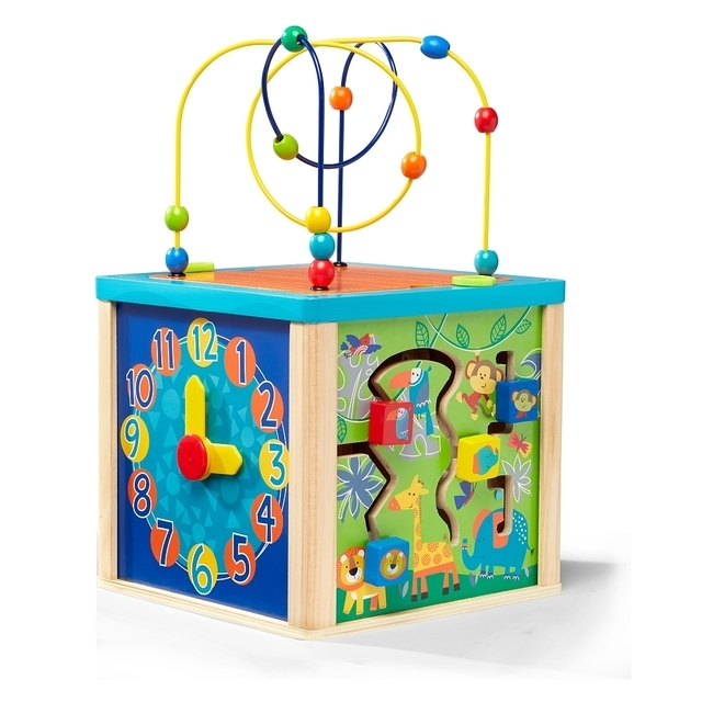 Universe of imagination Wooden Activity Cube 5 in 1