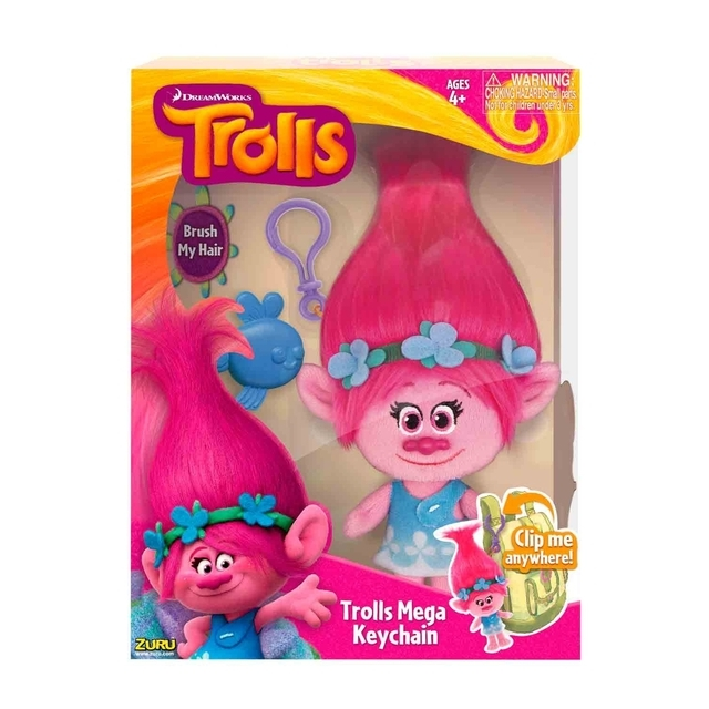 Dream Works Trolls, 22 cm Plush Poppy