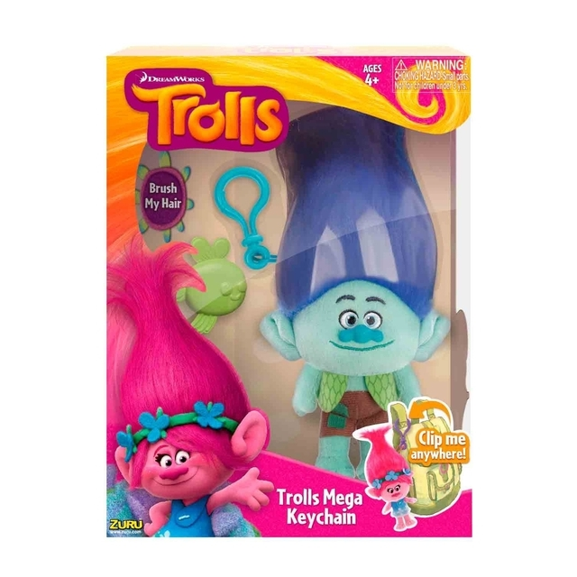 Plush Toy Key Ring Dream Works Trolls True Color branch, 22 cm