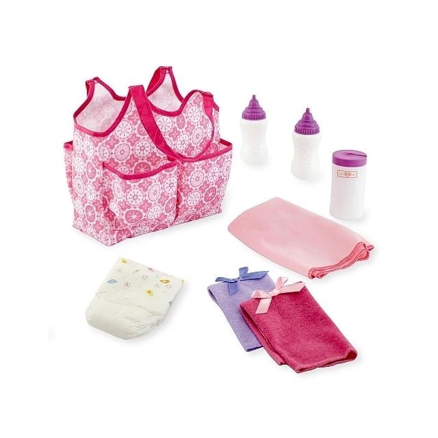 You & Me Baby Doll Diaper Bag and Accessories