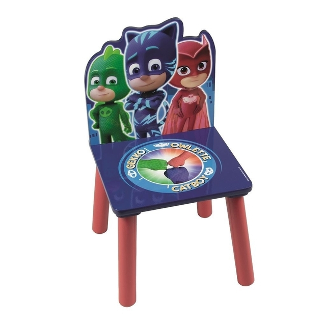 Disney PJ Masks wooden table with chairs blue/red