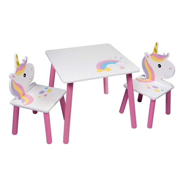 Unicorn Table and Two Chairs Set
