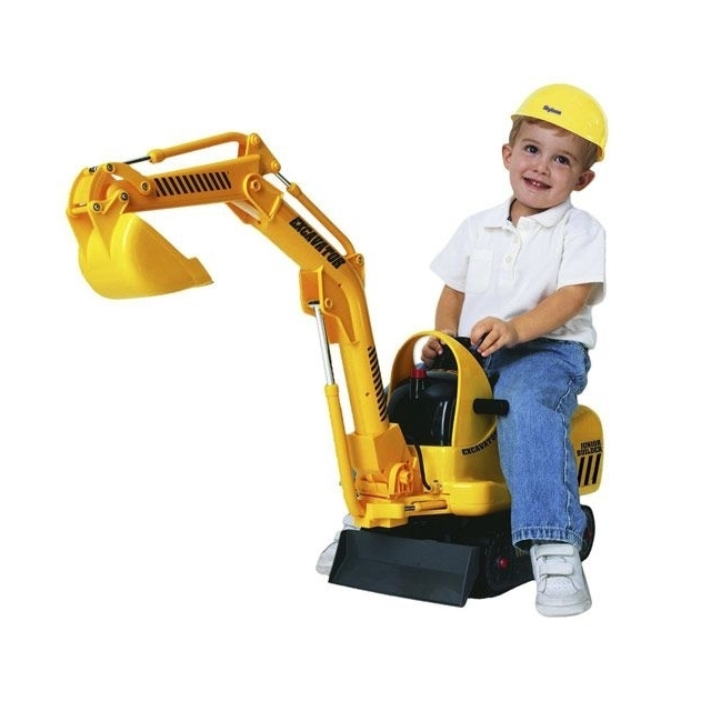 Micro Excavator and Hard Hat