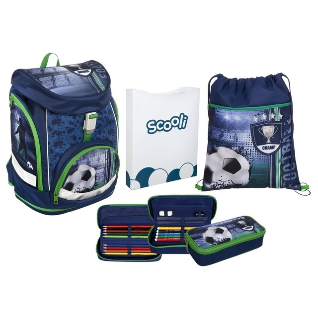 Football Schulranzen Set Twixter Up 4teilig