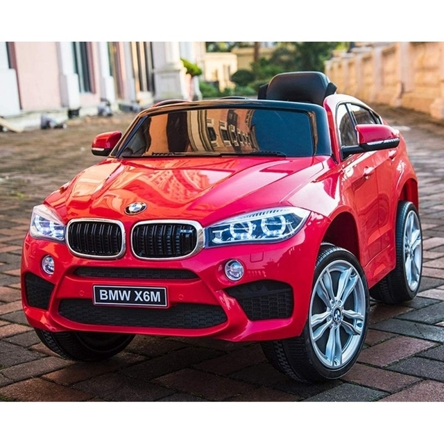 Original red electric car BMW X6M 2199 with remote control