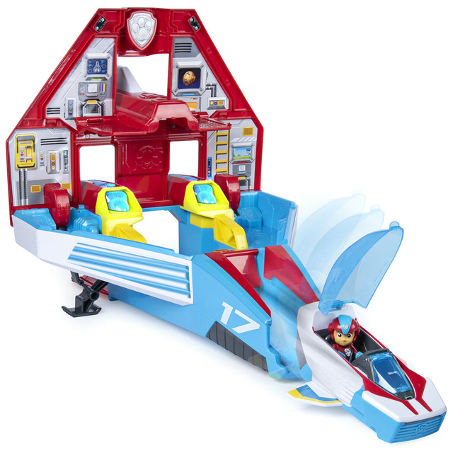 PAW Patrol MIGHTY JET COMMAND CENTER Mighty Pups Super PAWS Playset