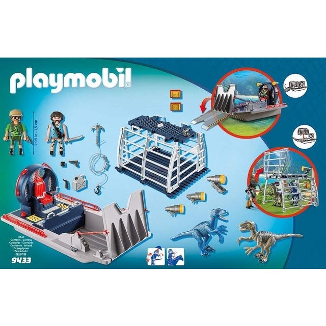 Playmobil 9433 Boat with Cage Toy Set