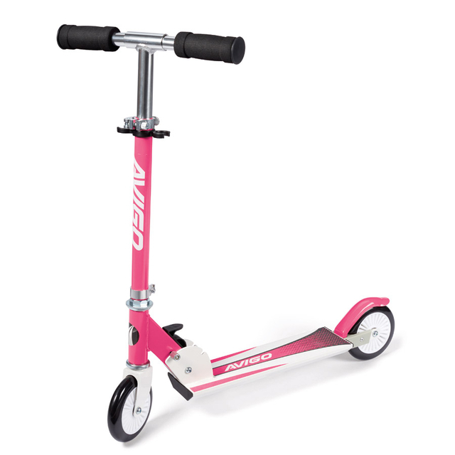 Inline Folding Scooter - Pink