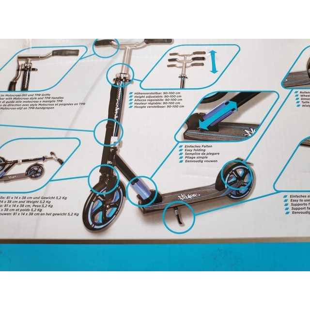 Intertek Scooter Big Wheel 230, синий