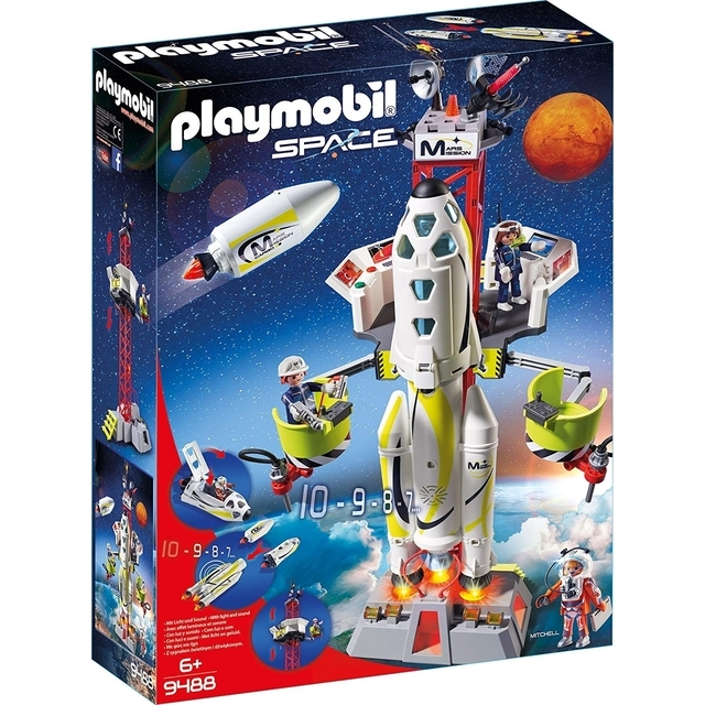 Playmobil 9488 Mars Mission Rocket With Launch Site