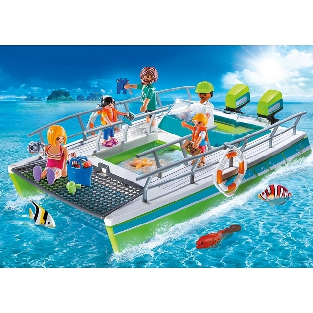 PLAYMOBIL 9233 Glass Bottom Diver Boat With Motor