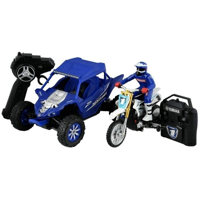 Hyper Toy R/C Yamaha Combo YXZ 1000R Buggy YZ 450F Cycle, Blue/White