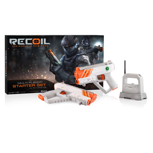 Recoil Laser Tag Starter Set, GPS enabled Multi-Player Smartphone Game