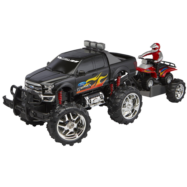 Fast Lane Remote Control 1:10 Scale Ford F-150 with ATV on Trailer