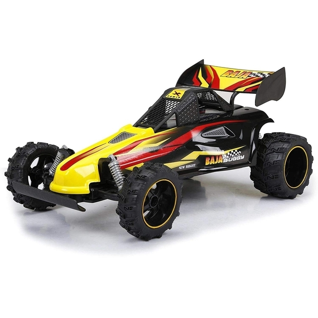 New Bright 1:14 RC Chargers Full-Function Baja Buggy, Interceptor, Yellow