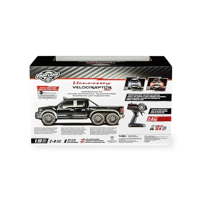 Fast Lane 1:16 Scale Performance R/C Hennessey® Velociraptor 6 x 6 Truck