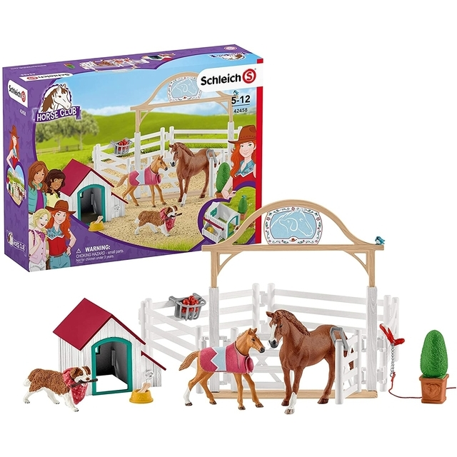 SCHLEICH HORSE CLUB Han Horses With Bitch Rube 42458