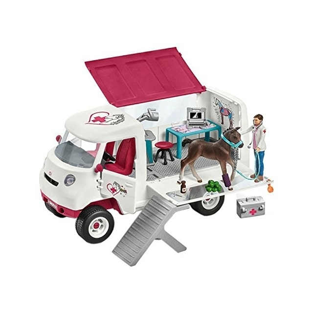 Schleich Horse Club: Mobile Vet With Hanoverian Foal 42370