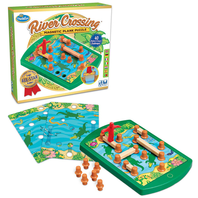 Thinkfun River Crossing Magnetic Plank Puzzle Game