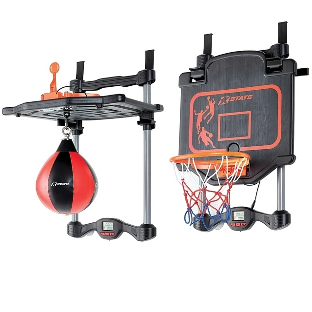 Stats 2 in 1 Adjustable Basketball and Boxing Set