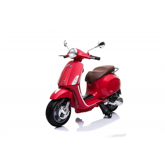 Stylish electric red scooter with side wheels CH8820