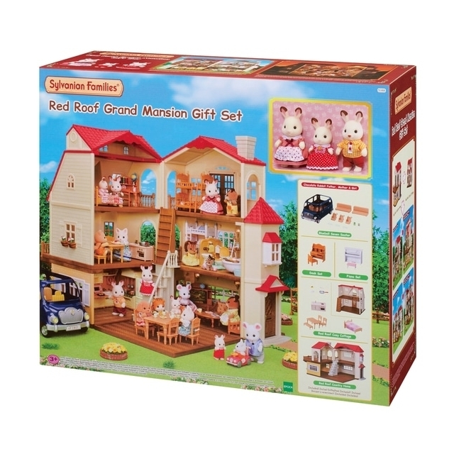 Sylvanian Families Red Roof Grand Mansion Gift Set