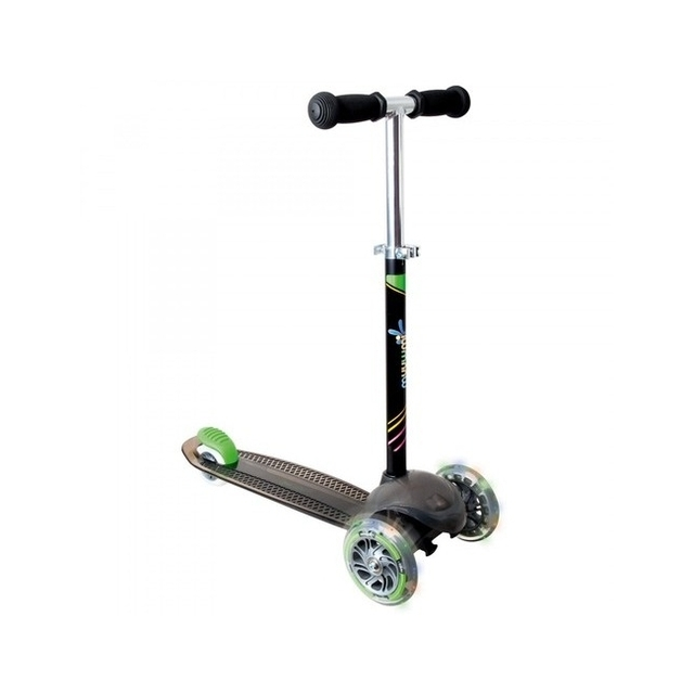 Muuwmi DS Scooter 3 Wheel - Black with Neon Wheels