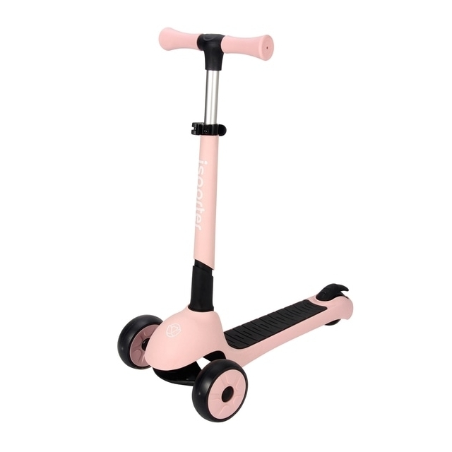 iSporter Foldable LED Pastel Pink Scooter