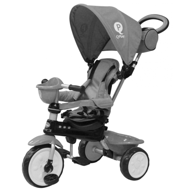 Q Play Comfort 4-IN-1 Trike Grey