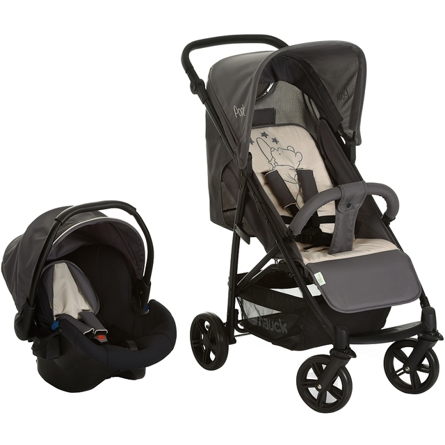 Hauck - Travelsystem Rapid 4 Shop'n Drive, Pooh Stars grey