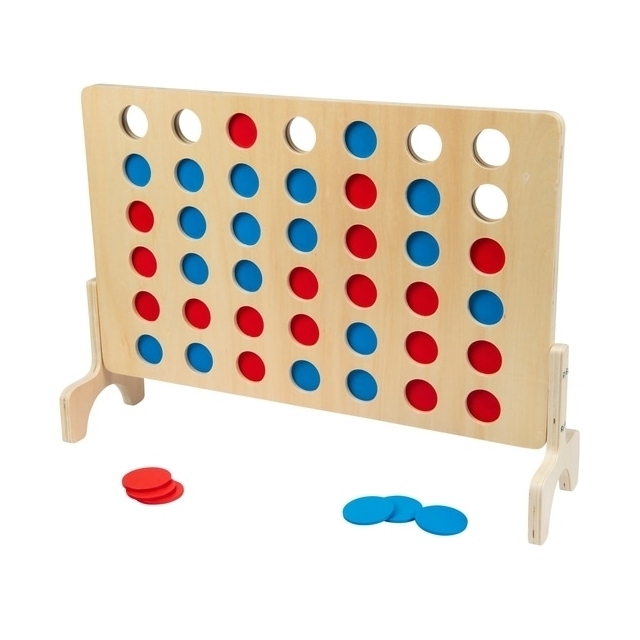 Wooden 4 in a Row Game