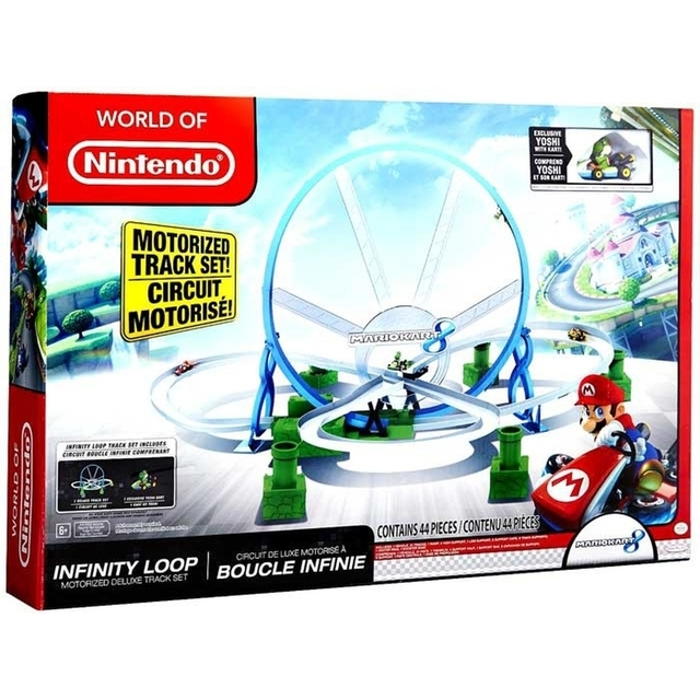 World of Nintendo Mario Kart 8 Infinity Lopp Motorized Deluxe Track Set