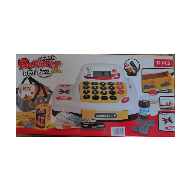 Toy store cash register with accessories Happy Cashier