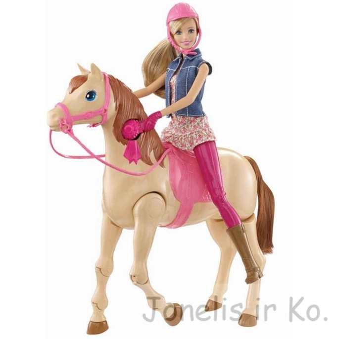 Barbie Saddle and Ride Horse Doll Playset