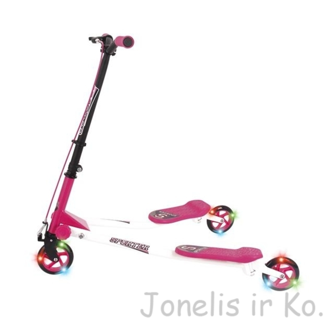 Sporter 1 Scooter, pink with light up wheels